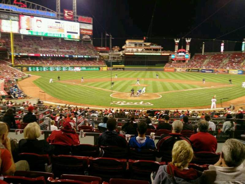 Seating view for Great American Ball Park Section 123 Row f Seat 5