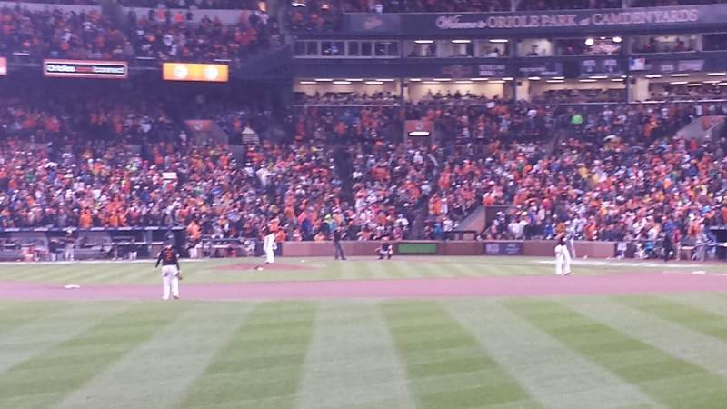 Seating view for Oriole Park at Camden Yards Section 86 Row 2 Seat 10