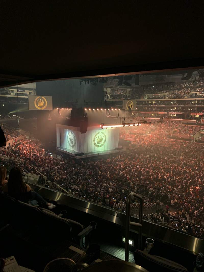Seating view for Staples Center Section Suite B43 Row SRO Seat 1