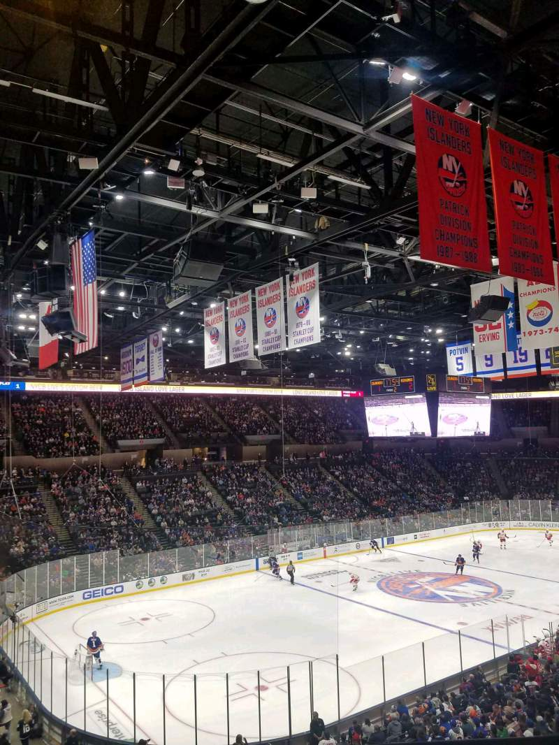 Seating view for Nassau Veterans Memorial Coliseum Section 227 Row 1 Seat 1