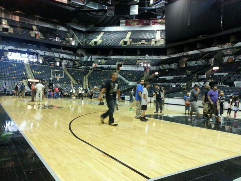Seating view for AT&T Center Section 16 Row 1A Seat 16