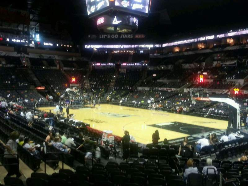 Seating view for AT&T Center Section 104A Row 18 Seat 2