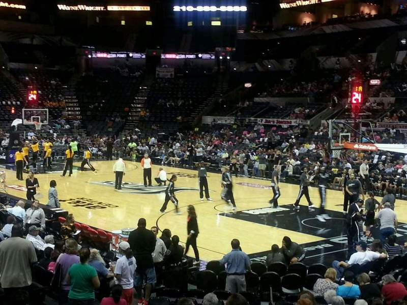 Seating view for AT&T Center Section 118 Row 18 Seat 1