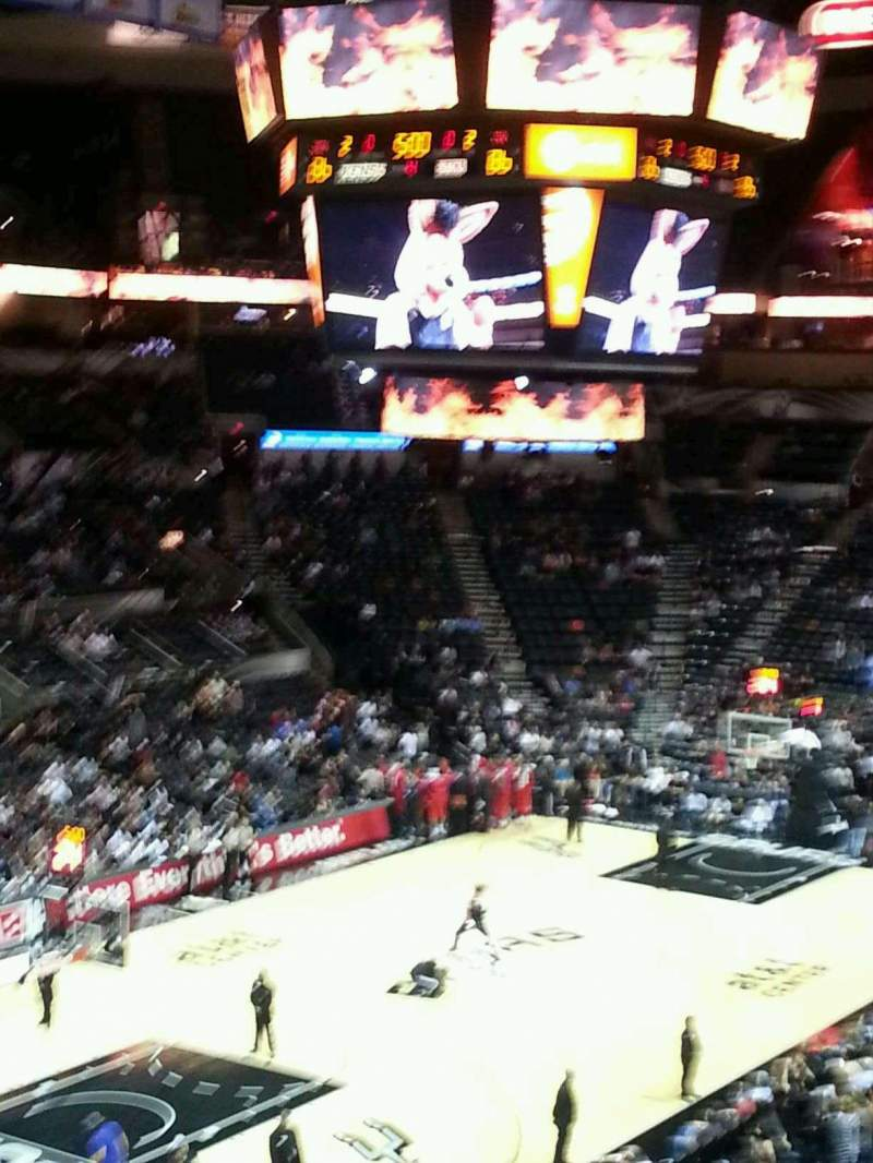 Seating view for AT&T Center Section 126 Row 34 Seat 21