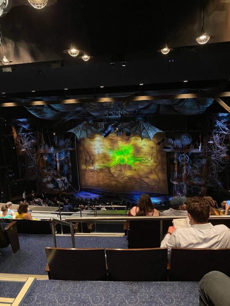 Seating view for Gershwin Theatre Section Rear Mezzanine R Row H Seat 6