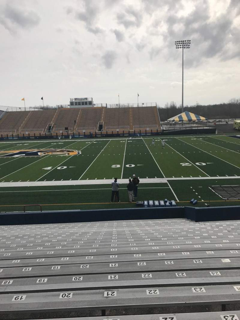 Seating view for Dix Stadium Section 3 Row 3 Seat 18