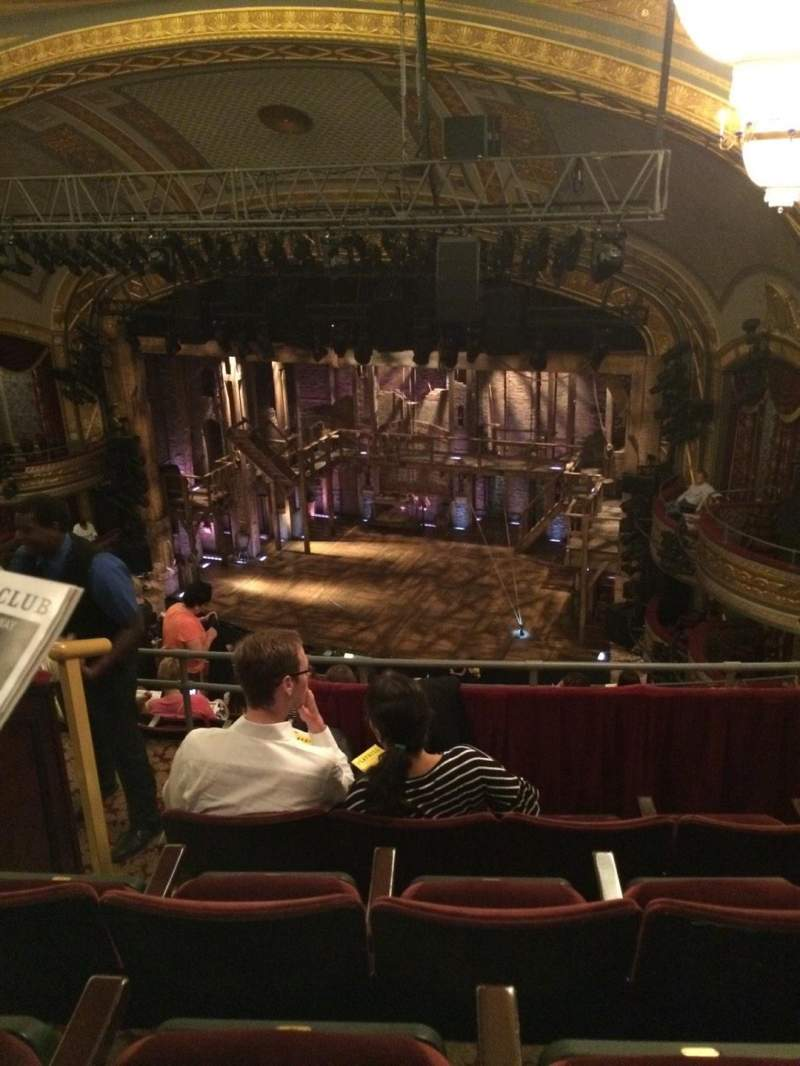 Seating view for Richard Rodgers Theatre Section RMezz Row D Seat 18
