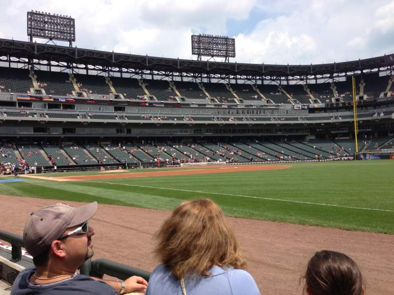 Seating view for U.S. Cellular Field Section 115 Row 1 Seat 7