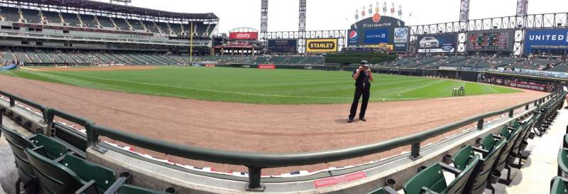 Seating view for Guaranteed Rate Field Section 115 Row 1 Seat 7
