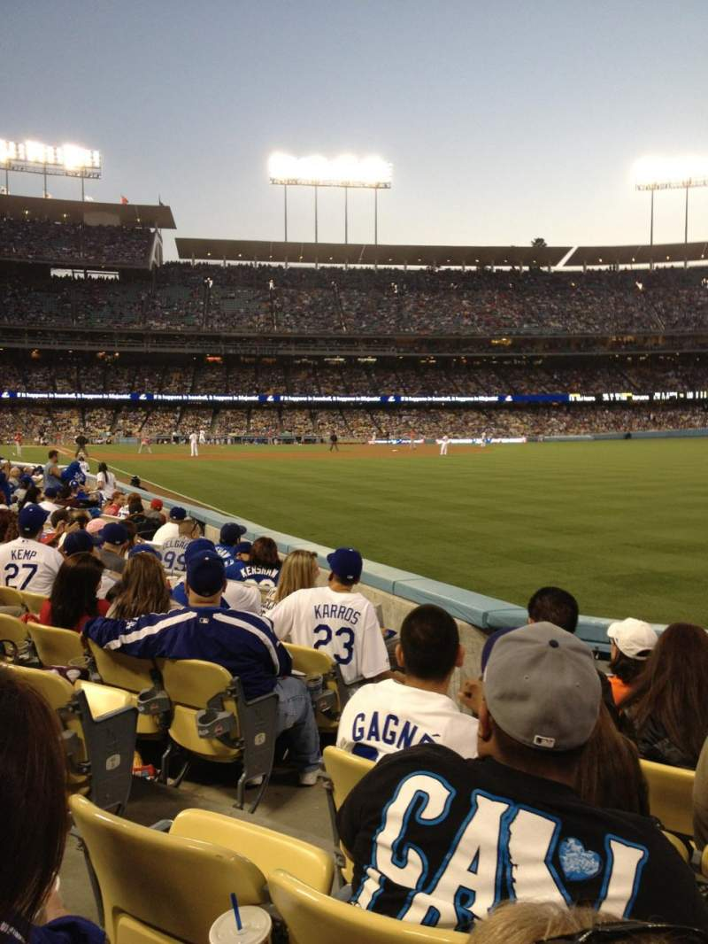Seating view for Dodger Stadium Section 48FD Row E Seat 3