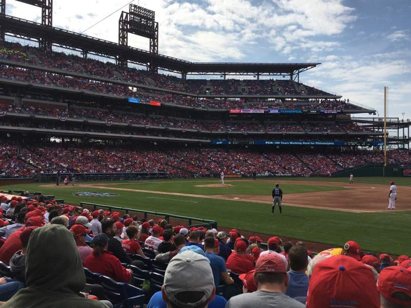 Seating view for Citizens Bank Park Section 113 Row 13 Seat 11