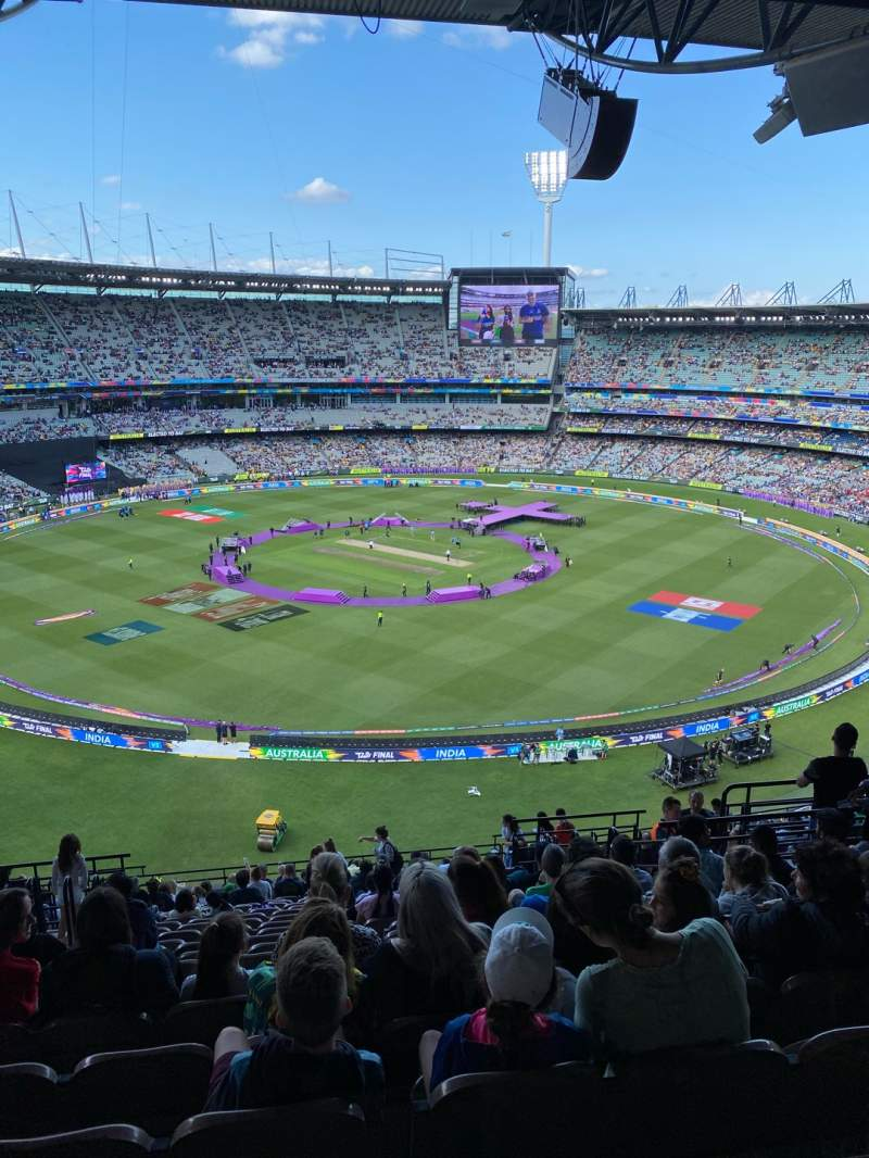 Seating view for Melbourne Cricket Ground Section Q27 Row W Seat 10