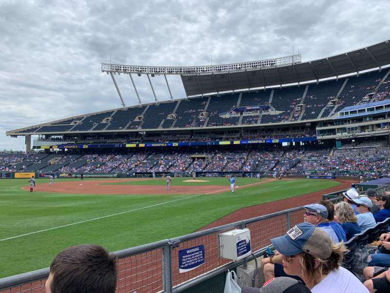 Seating view for Kauffman Stadium Section 113 Row 2 Seat 7