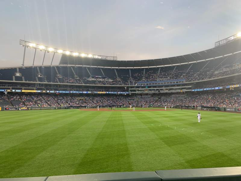 Seating view for Kauffman Stadium Section 103 Row B Seat 5
