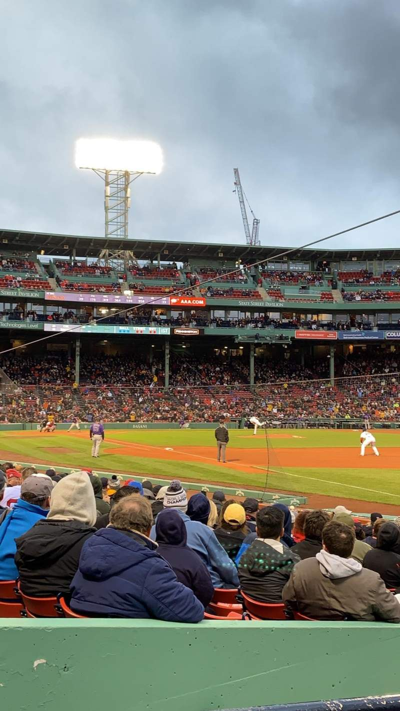 Seating view for Fenway Park Section Right Field Box 97 Row BB Seat 11