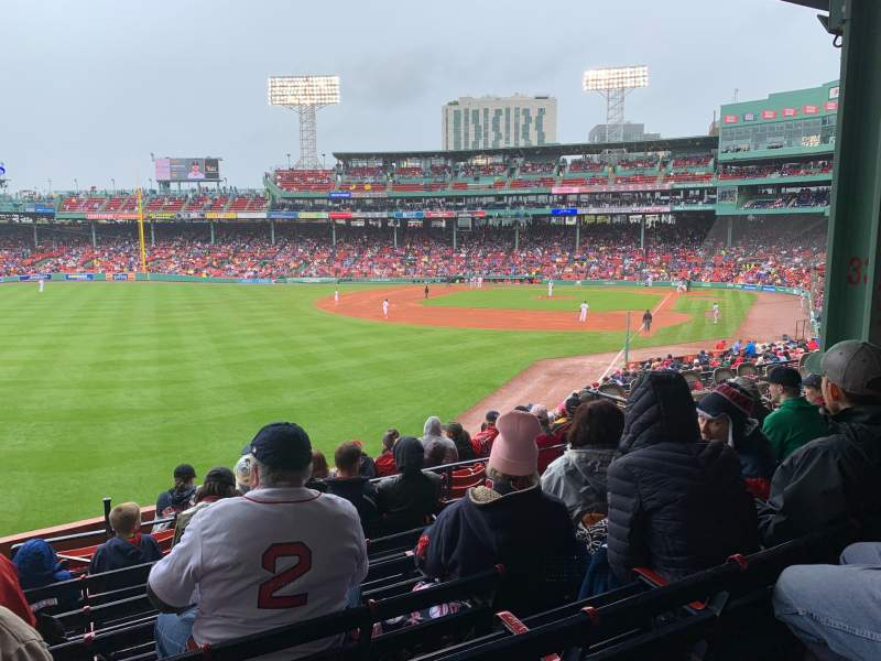 Seating view for Fenway Park Section GRANDSTAND 33 Row 7 Seat 11