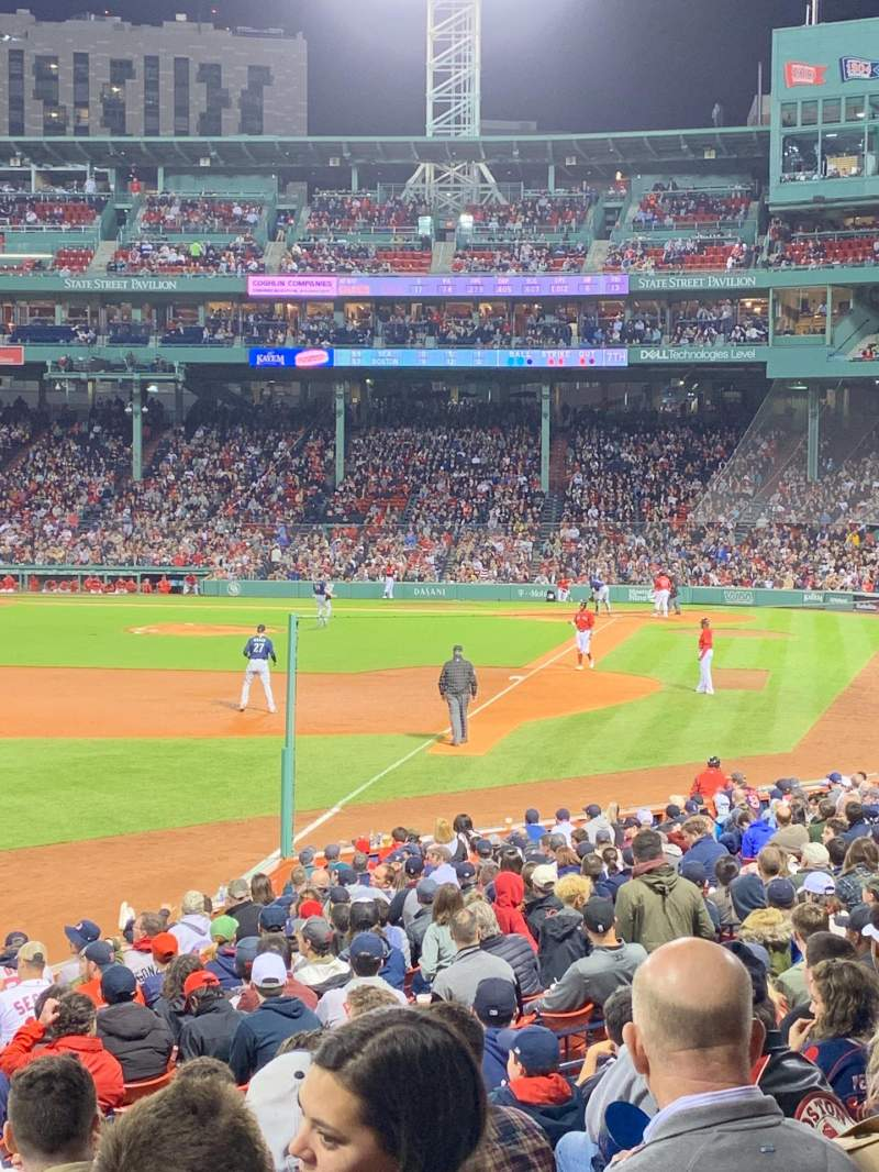 Seating view for Fenway Park Section Loge Box 163 Row LL Seat 9