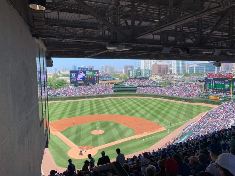 Seating view for Wrigley Field Section 419r Row 8 Seat 1-2