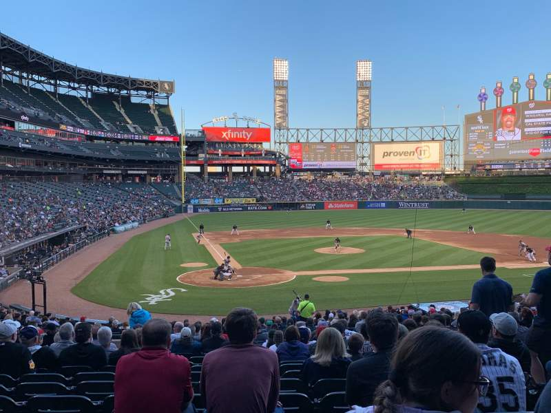 Seating view for Guaranteed Rate Field Section 129 Row 30 Seat 6