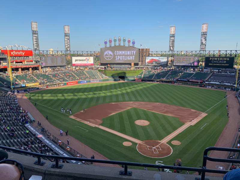 Seating view for Guaranteed Rate Field Section 534 Row 3 Seat 1