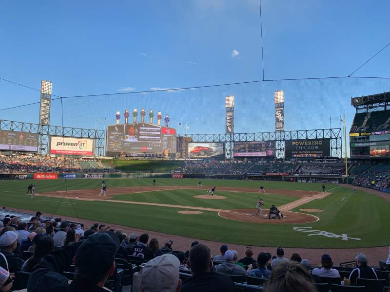 Seating view for Guaranteed Rate Field Section 134 Row 16 Seat 7