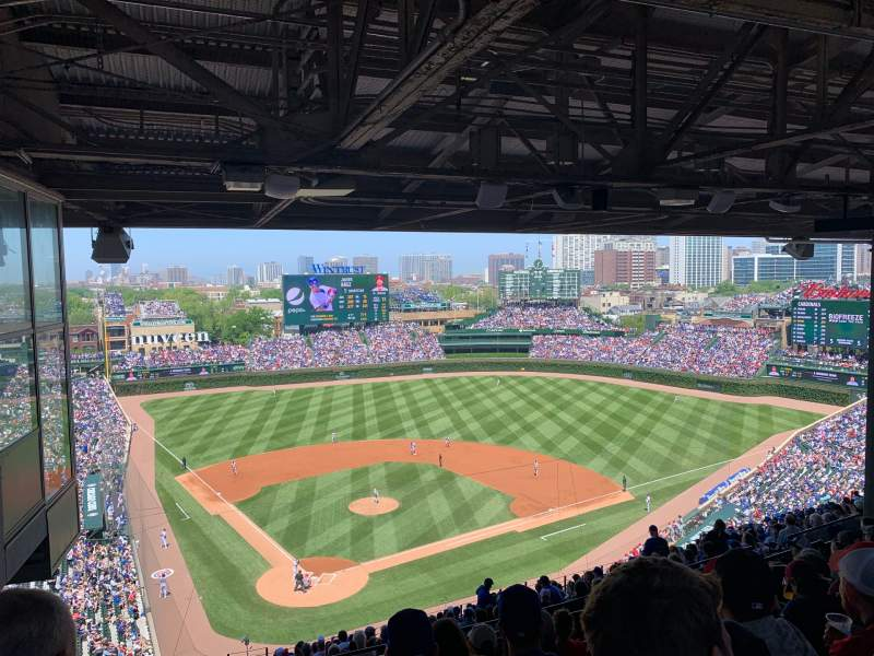 Seating view for Wrigley Field Section 420r Row 8 Seat 2