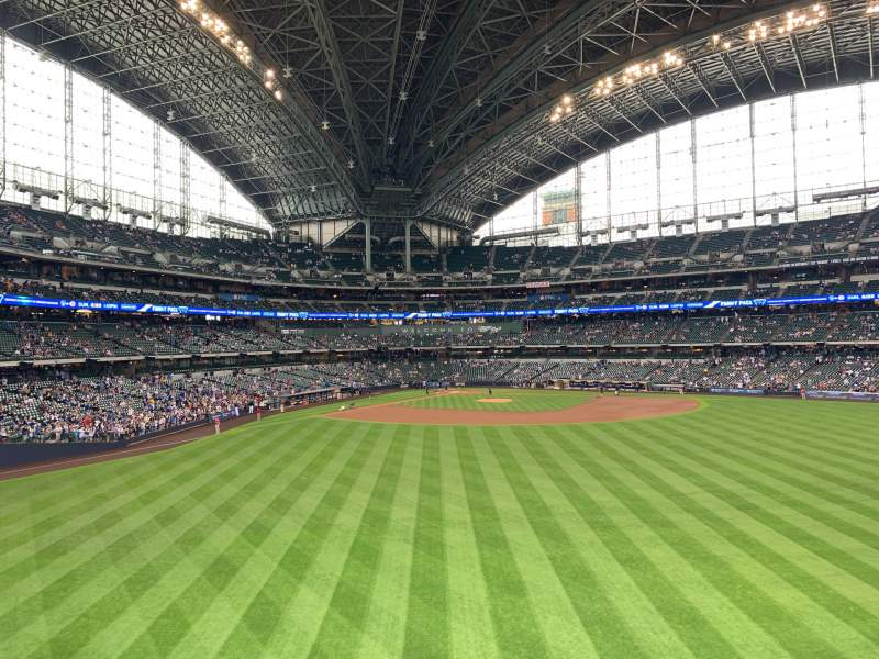 Seating view for Miller Park Section 203 Row 1