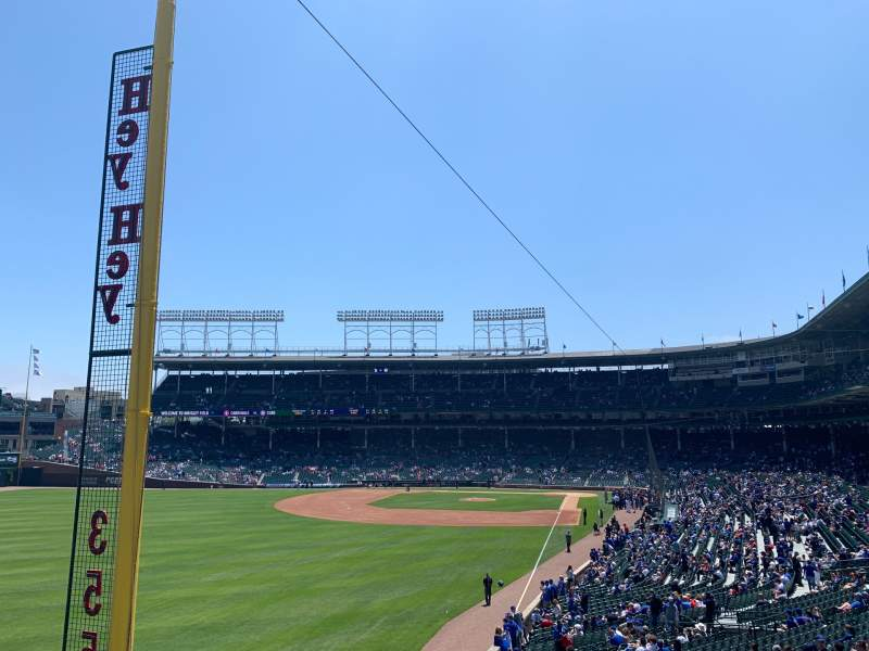 Seating view for Wrigley Field Section Standing Room Only Row SRO