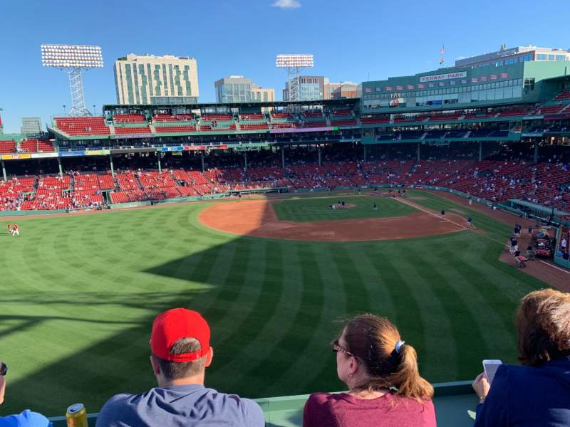 Seating view for Fenway Park Section Green Monster SRO Row SRO