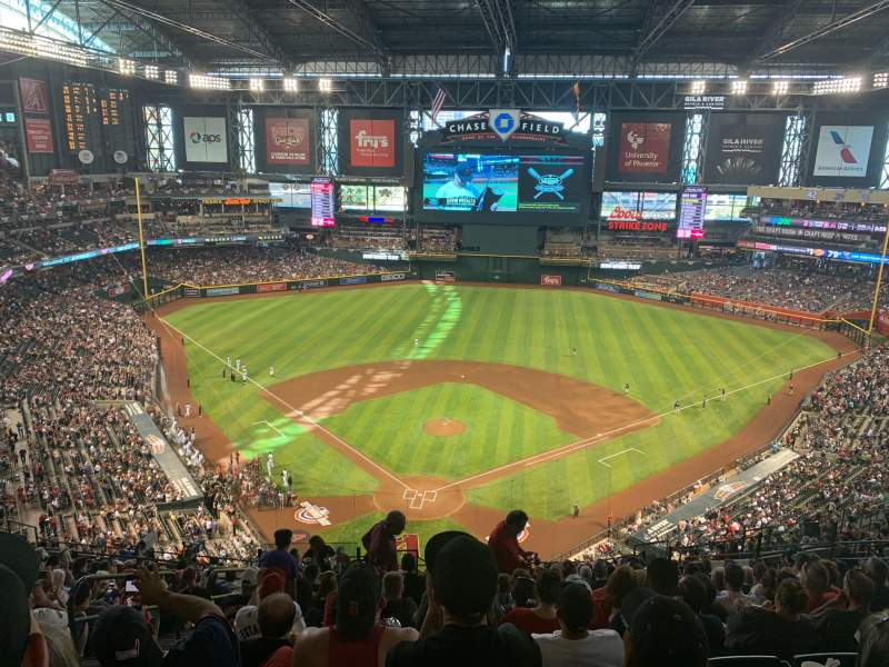 Seating view for Chase Field Section 315 Row 22 Seat 22