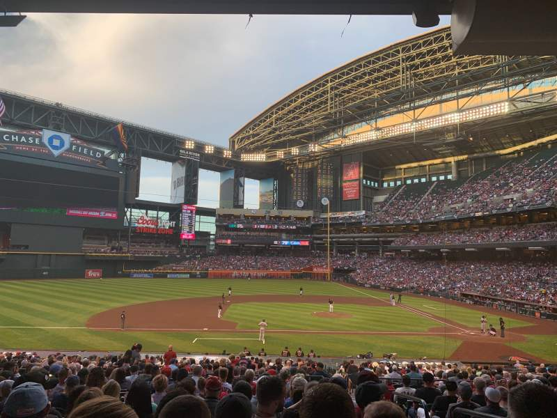 Seating view for Chase Field Section 128 Row 35 Seat 3