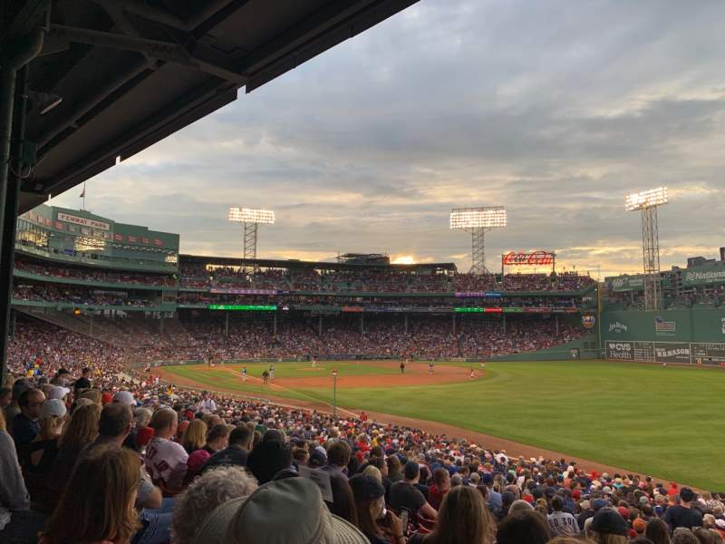 Seating view for Fenway Park Section Grandstand 7 Row 2 Seat 21