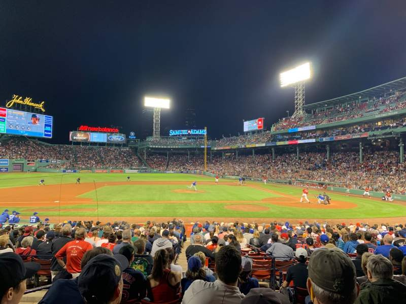 Seating view for Fenway Park Section Loge Box 145 Row GG Seat 2
