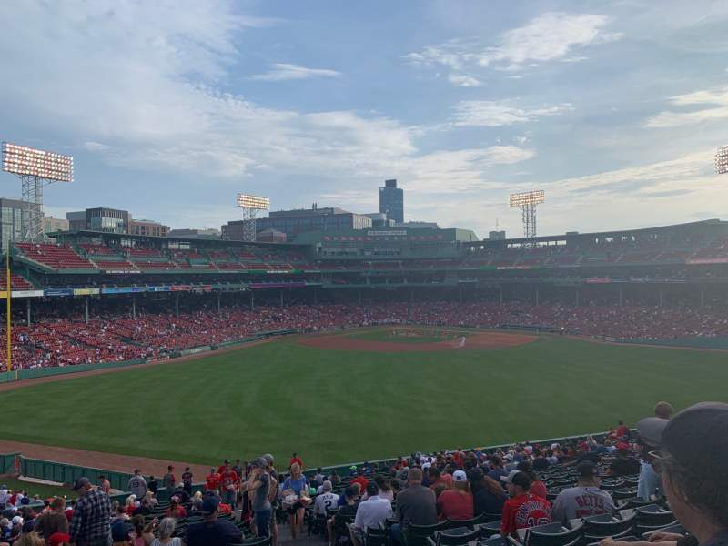 Seating view for Fenway Park Section Bleacher 36 Row 32 Seat 1
