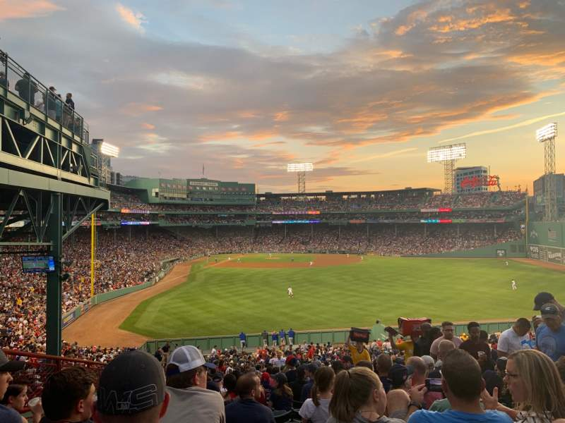 Seating view for Fenway Park Section Bleacher 43 Row 45 Seat 9