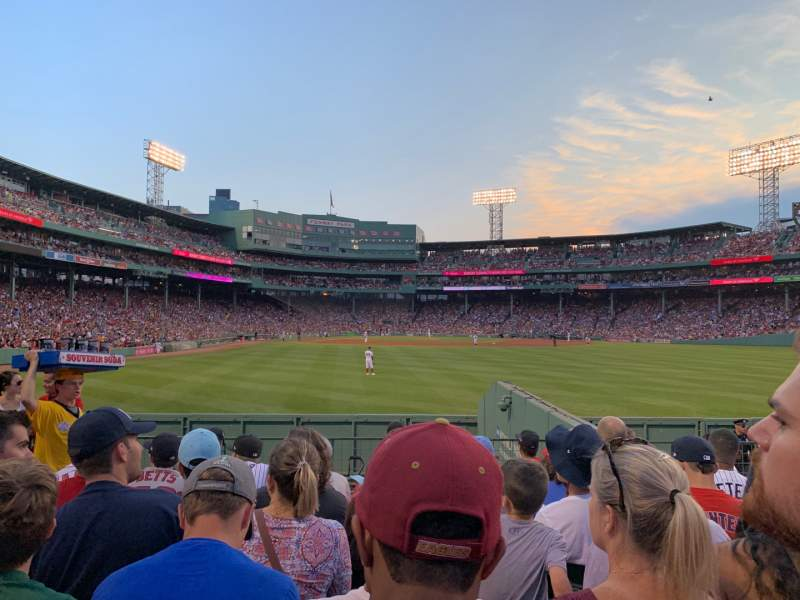 Seating view for Fenway Park Section Bleacher 42 Row 8 Seat 4