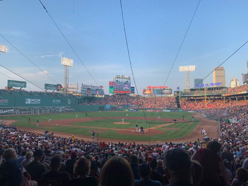 Seating view for Fenway Park Section Grandstand 22 Row 2 Seat 9