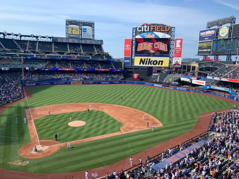 Seating view for Citi Field Section 411 Row 1 Seat 11