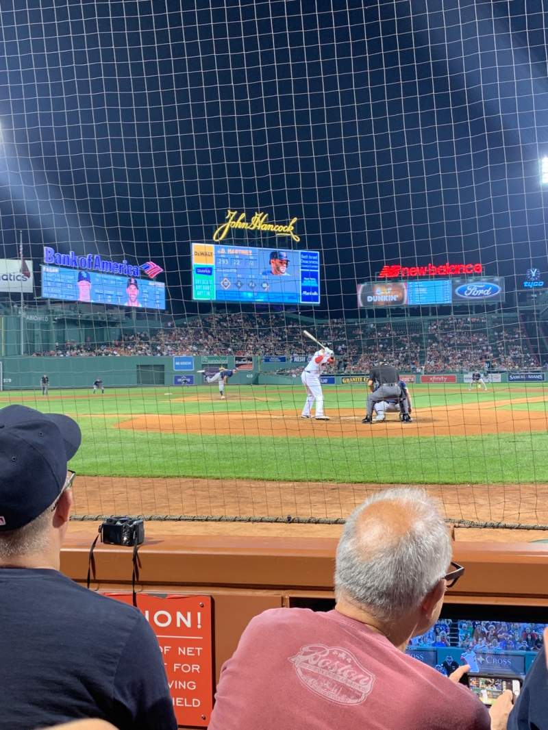Seating view for Fenway Park Section Field box 47 Row C