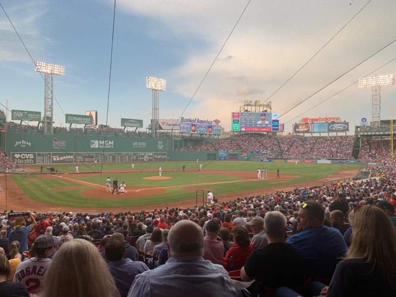 Seating view for Fenway Park Section Loge Box 128 Row LL Seat 2