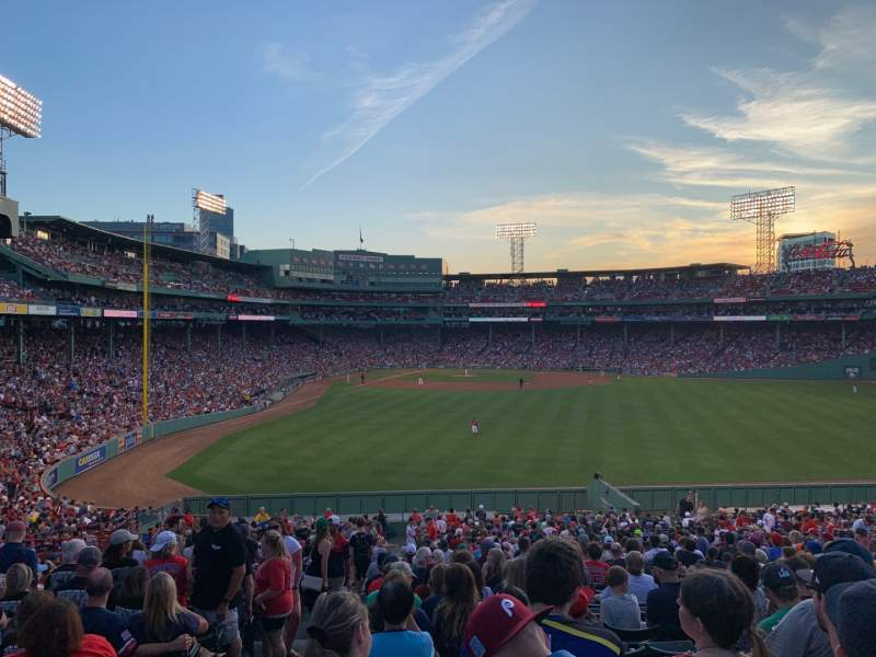 Seating view for Fenway Park Section Bleacher 42 Row 38 Seat 25