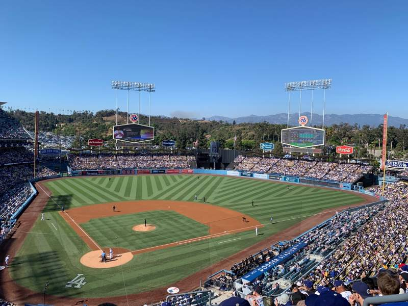 Seating view for Dodger Stadium Section 4RS Row J Seat 21