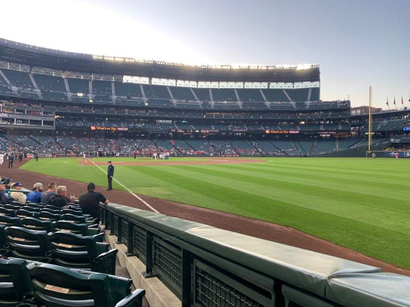 Seating view for T-Mobile Park Section 112 Row 10 Seat 1