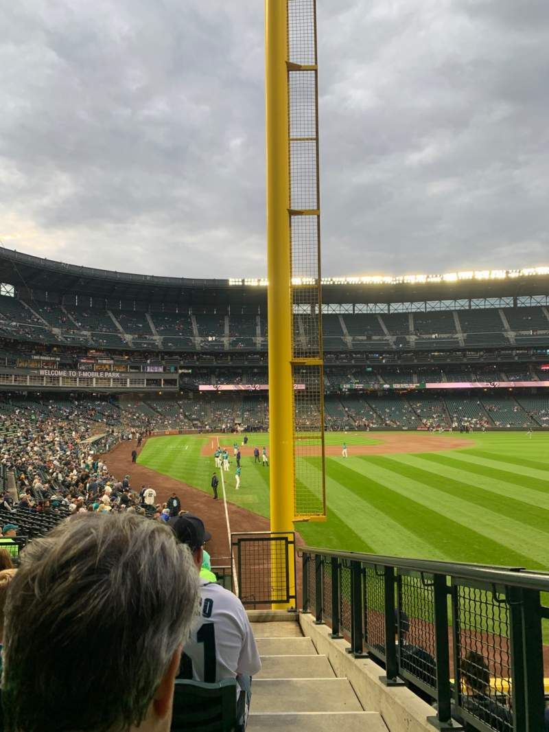 Seating view for T-Mobile Park Section 110 Row 31 Seat 1