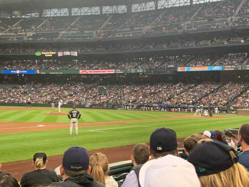 Seating view for T-Mobile Park Section 141 Row 6 Seat 11
