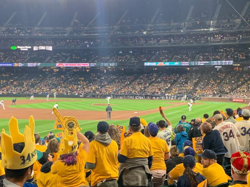 Seating view for T-Mobile Park Section 146 Row 18 Seat 5