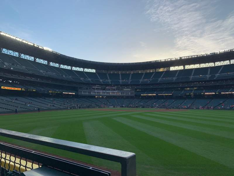 Seating view for T-Mobile Park Section 105 Row 23 Seat 4