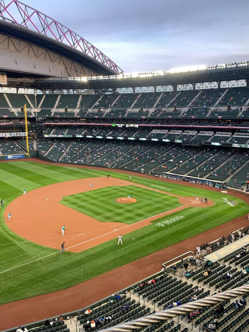 Seating view for T-Mobile Park Section 342 Row 1 Seat 13