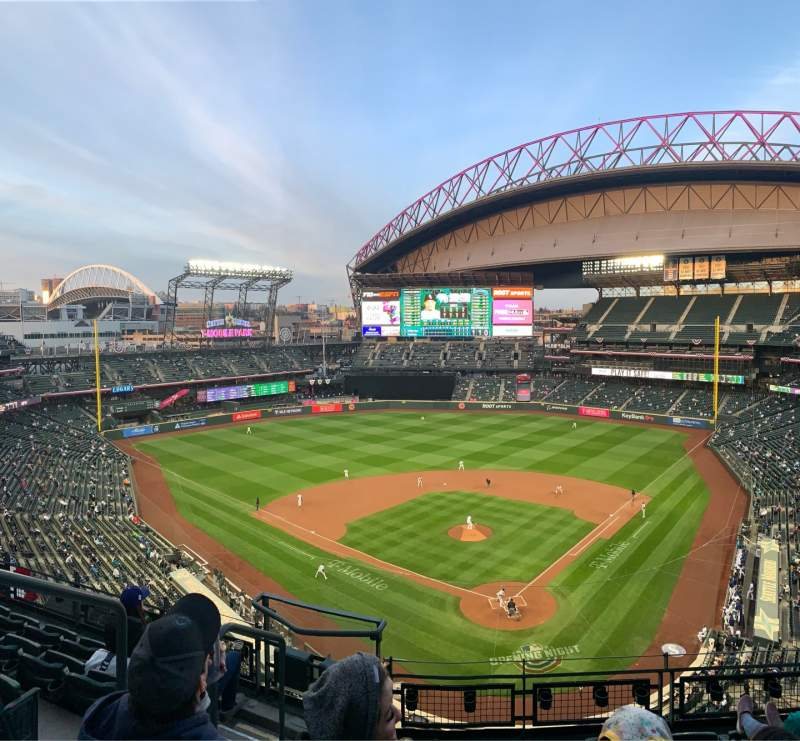 Seating view for T-Mobile Park Section 331 Row 6 Seat 16