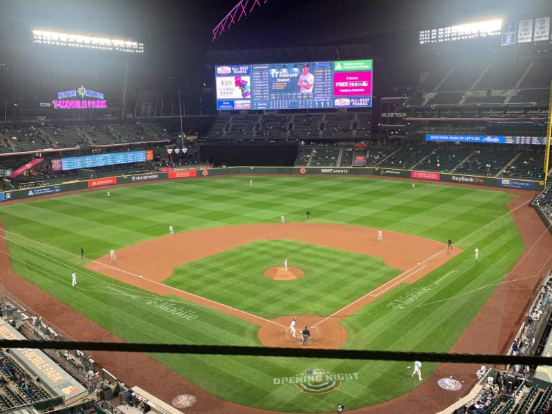 Seating view for T-Mobile Park Section 331 Row 1 Seat 4